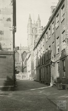 Church Street view from Abbey Green looking towards the Abbey, c.1930s