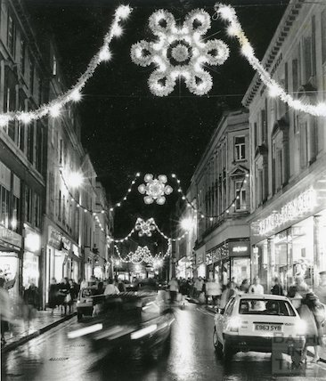 Stall Street Christmas Lights, 30th November 1988