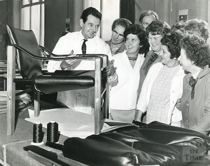 Staff training at Bath Cabinet Makers, 1969