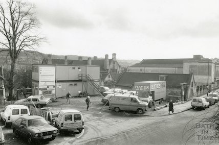 Building site at the junction of Walcot Gate and Walcot Street, Bath c.1990