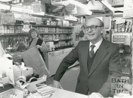 Ken Overment in the interior of his pet shop on Walcot Street, 11 April 1988