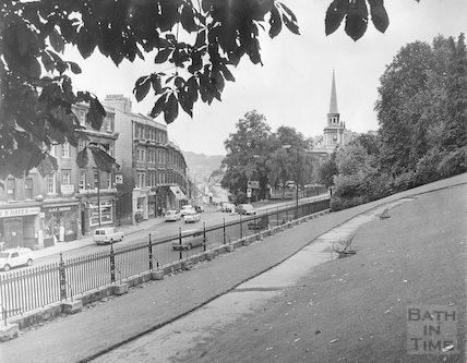 Walcot Street view from Hedgemead Park, c.1960s