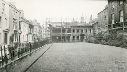 The restoration of Beauford Square, c.1965