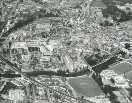 1974 Aerial Photograph of Bath showing a north westerly view of the city of Bath