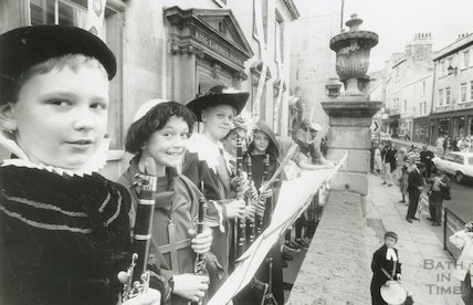 King Edward's School procession to celebrate the move from Broad Street, 6th July, 1990