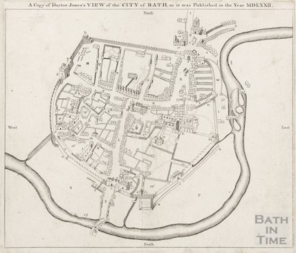 A copy of Dr. Jones's view of the City of Bath, as it was published in the year MDLXXII (1572)