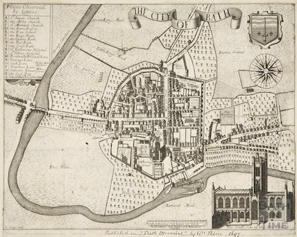 1697 Gilmore map of The City of Bath