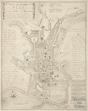A New and Correct Plan of the City of Bath 1776