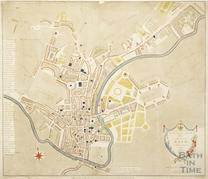 A New and Accurate Plan of the City of Bath to the present year 1799