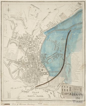 Plan of the City of Bath 1822