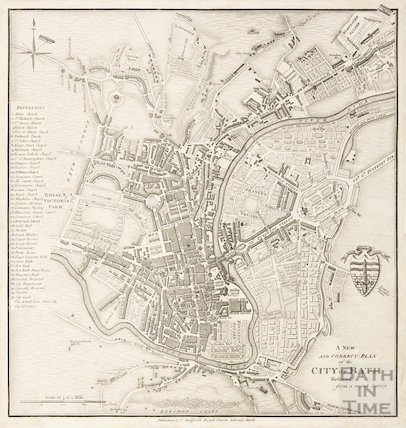 A New and Correct Plan of the City of Bath, reduced from a recent survey 1830