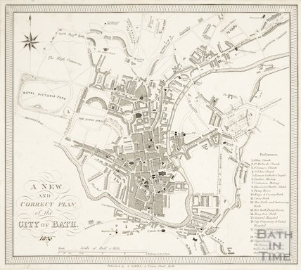 A New and Correct Plan of the City of Bath 1835