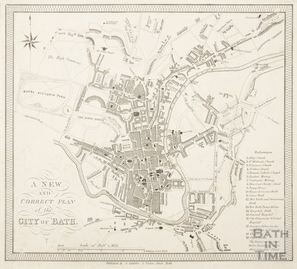 A New and Correct Plan of the City of Bath 1837