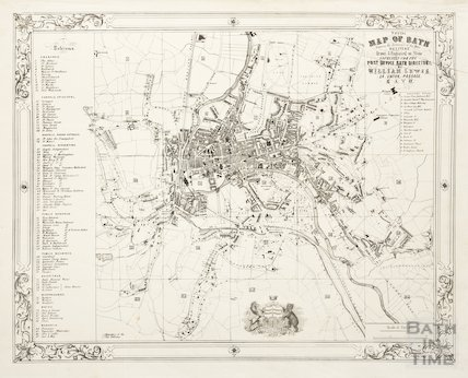 Postal Map of Bath Shewing the Boundary of the Town Delivery 1860-1