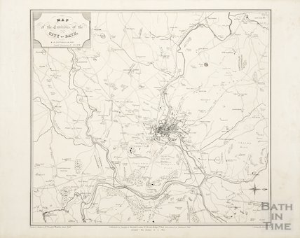 Map of the Environs of the City of Bath 1847