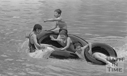 Open air fun at the Cleveland Baths, 25 June 1983