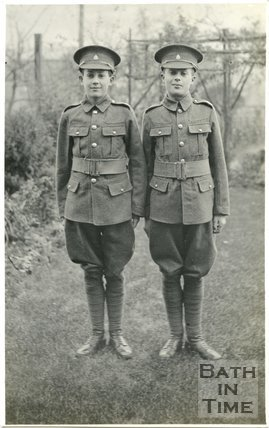 The photographer's twins in army uniform, c.1922