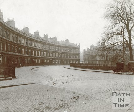 The Circus, Bath, shown from the beginning of Bennet Street, c.1910