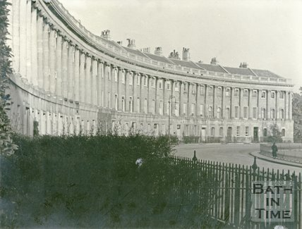 Royal Crescent, Bath, looking East, c.1930s
