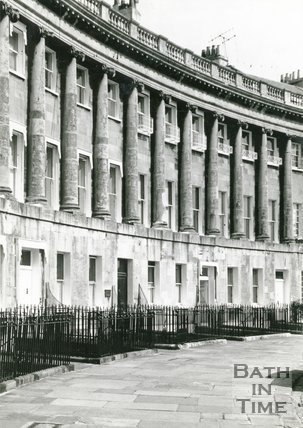 Royal Crescent Bath, home of Christopher Anstey, c.1960s