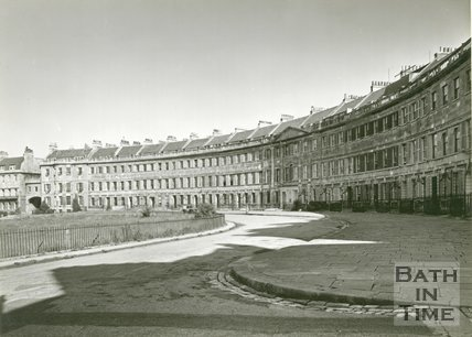 Lansdown Crescent, Bath, 1950