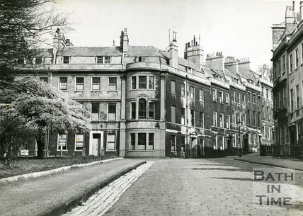St. James's Square, Bath, north east corner towards Great Bedford Street, c.1950s