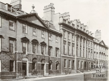 West side of Queen Square, Bath c.1903
