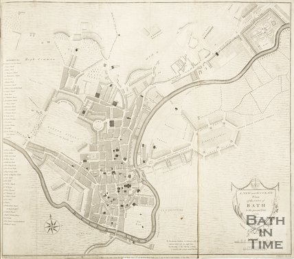 A New and Accurate Plan of the City of Bath to the present year 1793