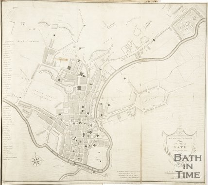 1799 A New and Accurate Plan of the City of Bath to the present year