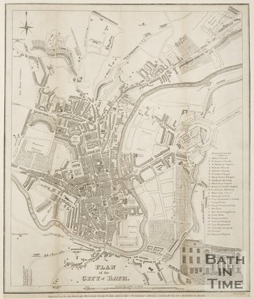 Plan of the City of Bath 1828