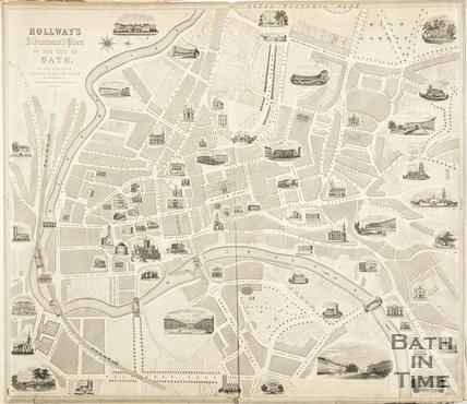 Hollway's Illustrated Plan of the City of Bath 1848
