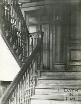 Staircase in Rosewell House, 14, Kingsmead Square, Bath, 1904