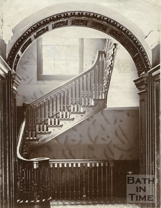 Staircase, North Parade Buildings (Gallaway's Buildings), Bath c.1903