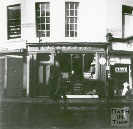 Gillard's Coffee Shop, New Bond Street, Bath, 1961