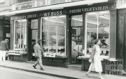W. F. Buss, Greengrocers, Westgate Street, Bath, June 1988