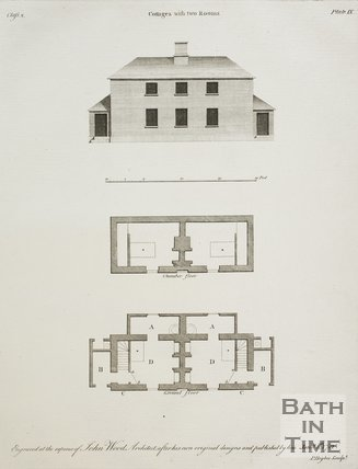 Cottages with two Rooms from A Series of Plans for Cottages for Labourers by John Wood the younger, 1781