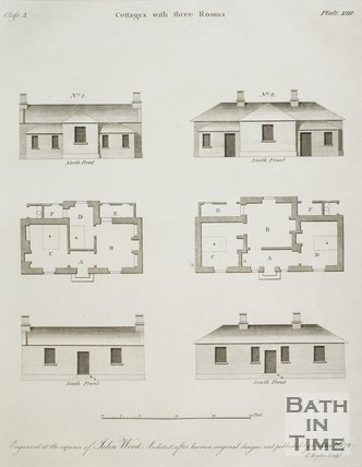 Cottages with three Rooms from A Series of Plans for Cottages for Labourers by John Wood the younger, 1781