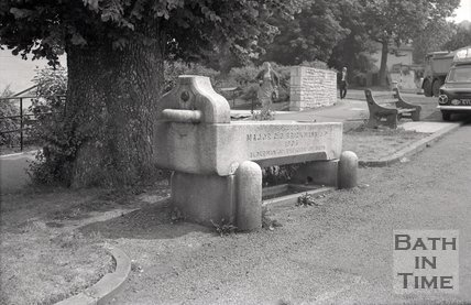 Horse trough, Warminster Road, Bath, 1967