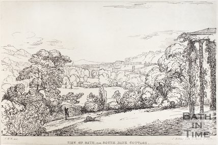 View of Bath from South Bank Cottage, c.1837