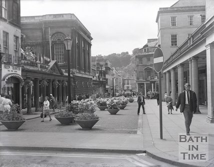 Stall Street opposite the Pump Room viewed from Westgate Street, c.1970