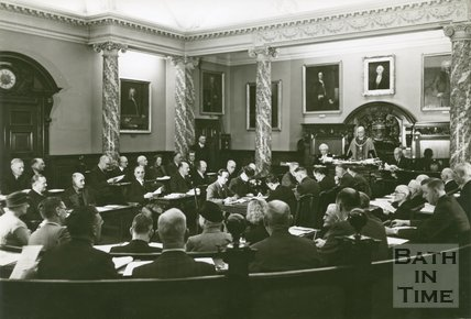 Bath City Council in the Council Chamber, 1946