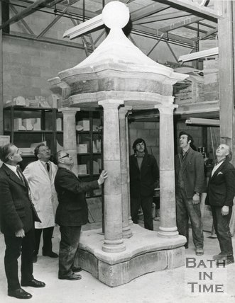 Temple renovated from 14, Queen Square, Bath, 1974