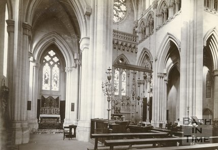 The North Transept of Downside Abbey, c.1880s