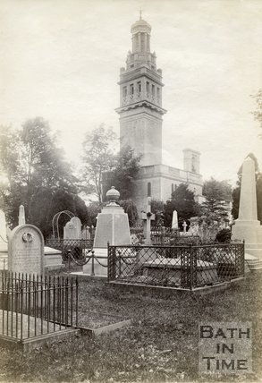 Beckford's Tower and Lansdown Cemetery, Bath c.1890