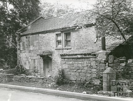 Cottage at entrance to Beckford's Tower Grounds, Bath, condition in July, 1972
