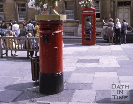 Decorated Post Boxes and Telephone Boxes, Upper Borough Walls, June 1970