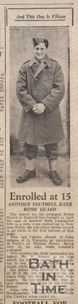 Another youthful Home Guard - John Adams, aged 15, Jan 18 1941