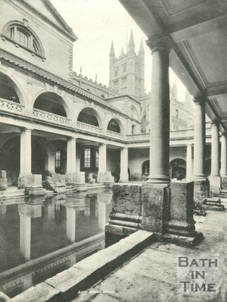 The Roman Great Bath, Bath c.1900