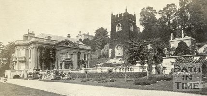 Widcombe Manor and St. Thomas à Becket Church, Widcombe, Bath c.1865