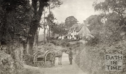 Langridge Lane near Bath 1865